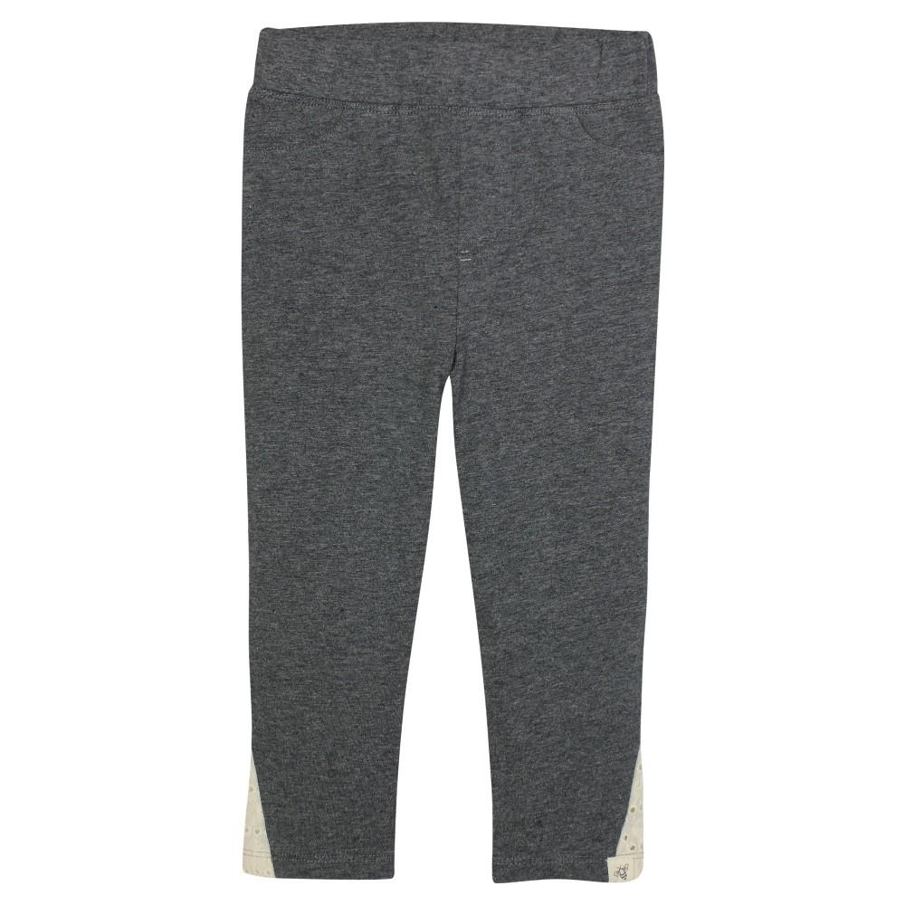 Burt's Bees Baby Girls' Crochet Legging – Dark Grey 3-6M, Infant Girl's, Size: 3-6 M