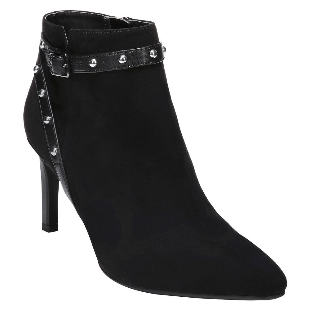 Womens Sam & Libby Amy Studded Booties - Black 6.5