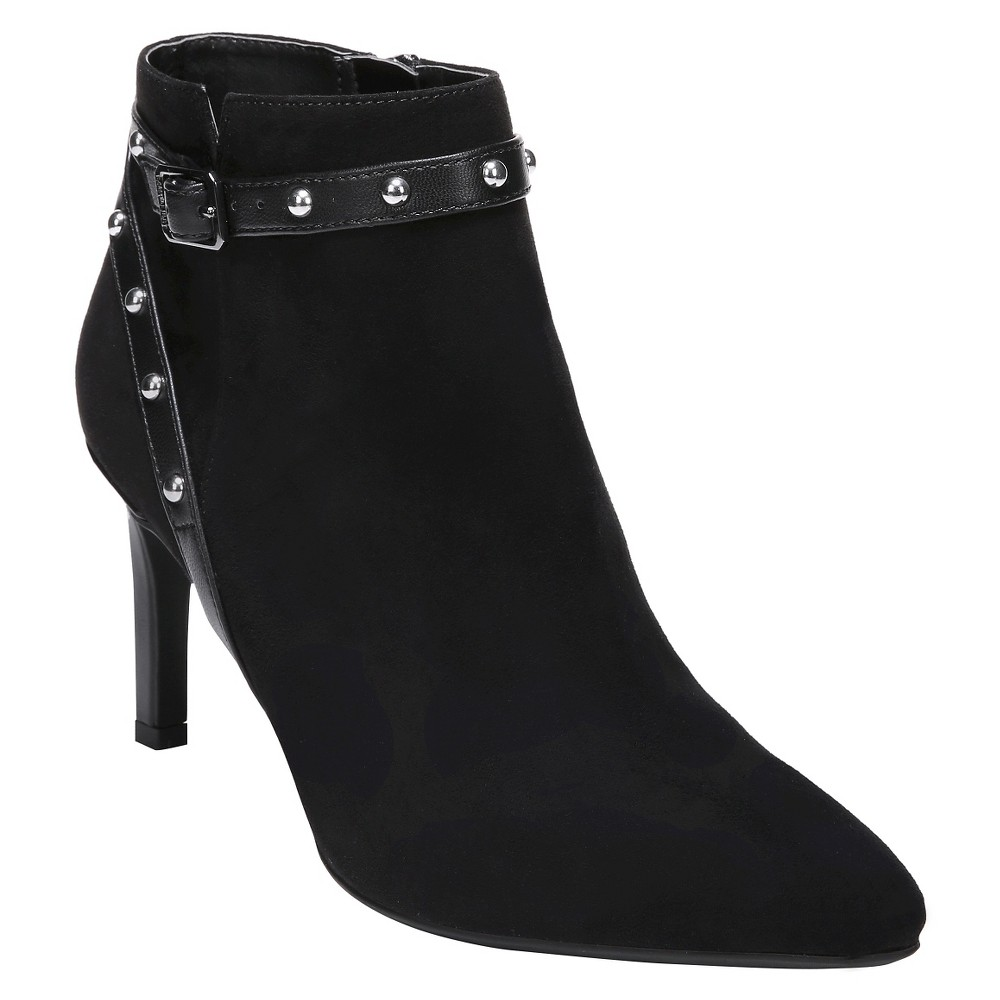 Womens Sam & Libby Amy Studded Booties - Black 8.5