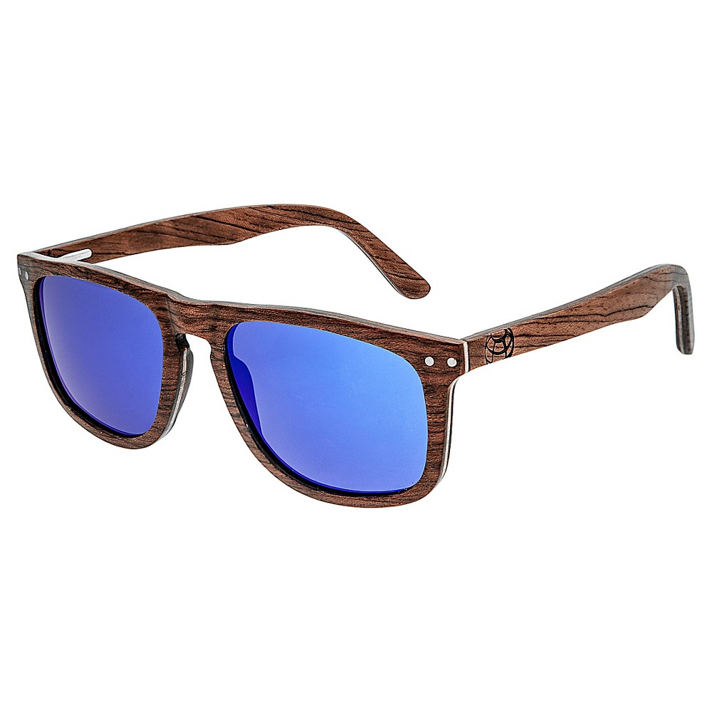 Earth Wood Pacific Unisex Sunglasses - Red, Brown