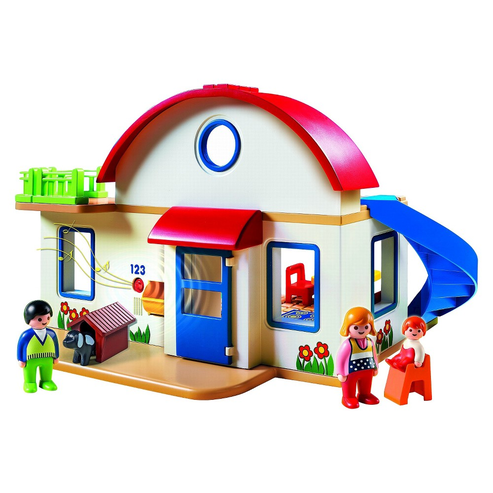 Playmobil 1.2.3 Suburban Home, Multi-Colored