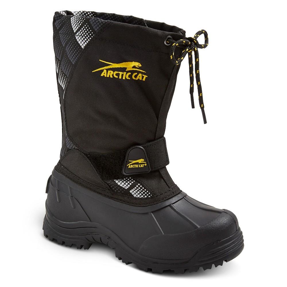 Boys Arctic Cat Snowshower Winter Boots - Black Print 3