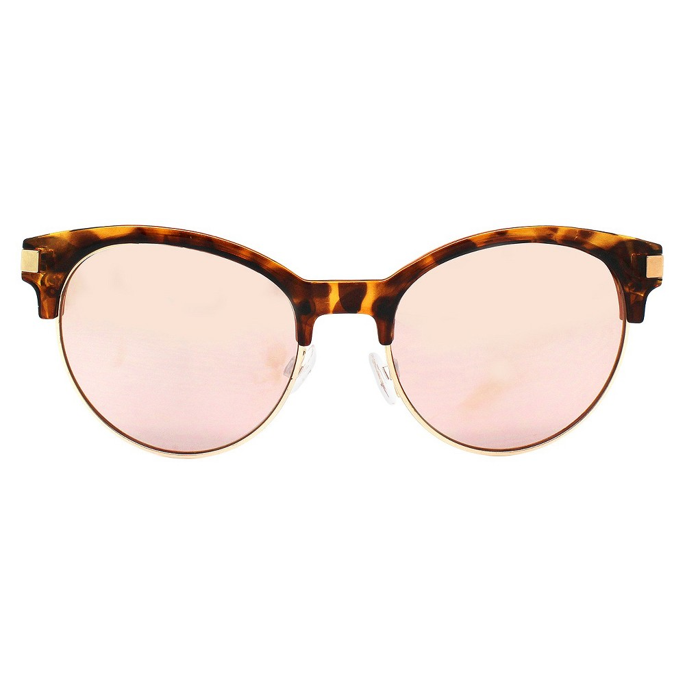 Womens Retro Sunglasses - Rose Gold, Brown
