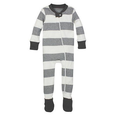 Burt's Bees Baby™ Boys' Rugby Stripe Sleeper - Heather Gray 24M