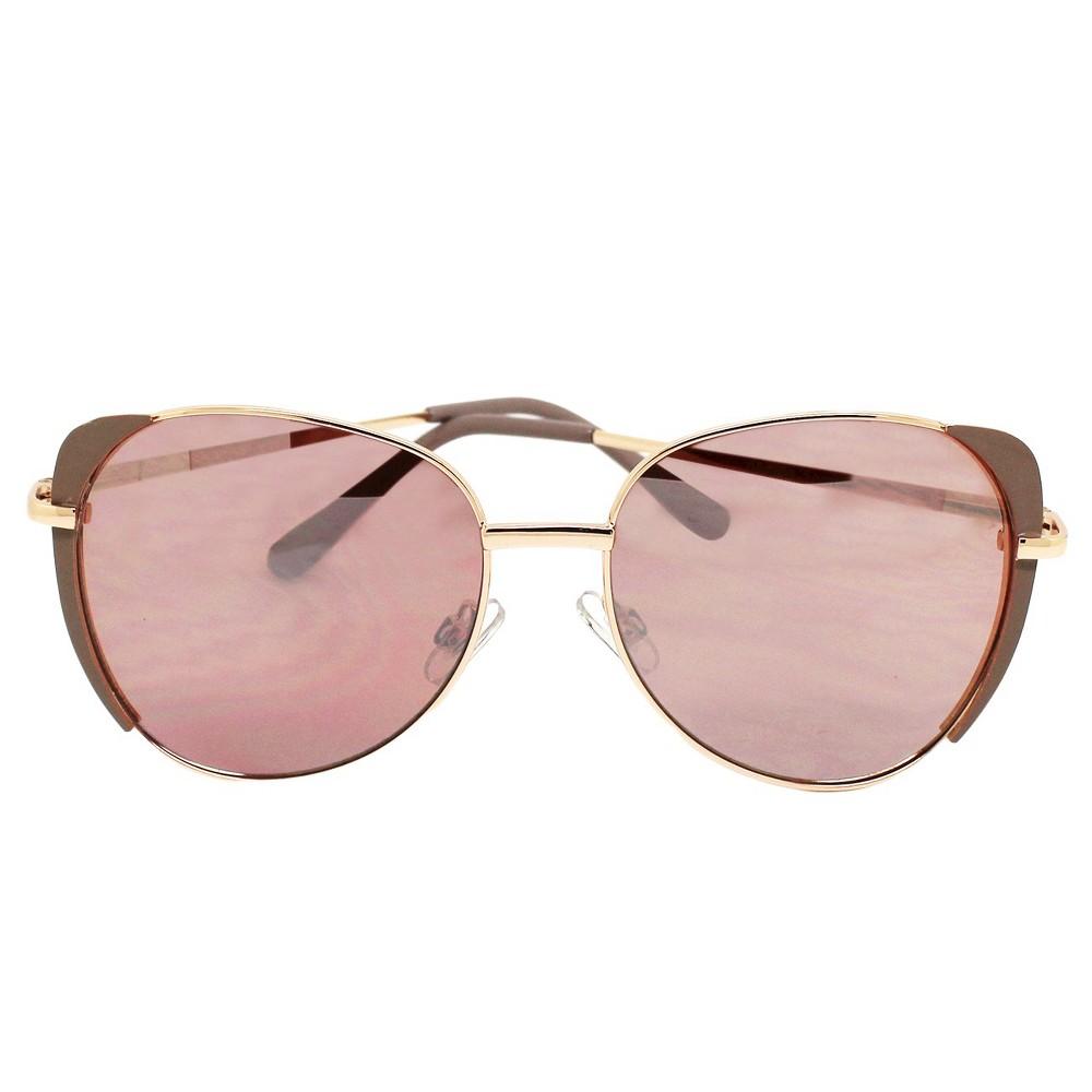 Womens Cateye Sunglasses - Rose Gold, Beige Nude
