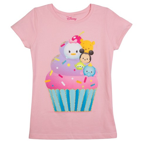 Girls' Disney® Tsum Tsum T-Shirt - Pink - image 1 of 1