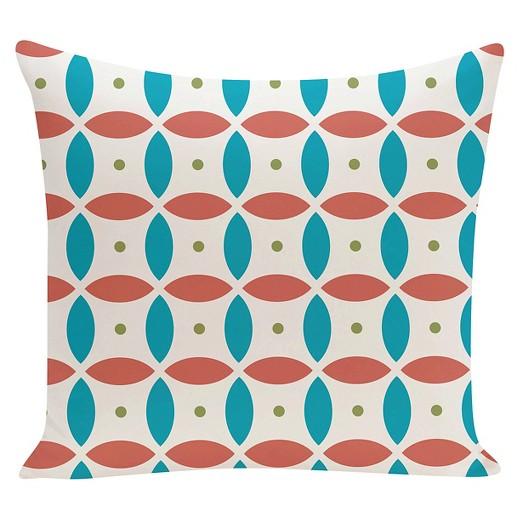 Orange Beach Ball Geometric Print Throw Pillow Seed (16