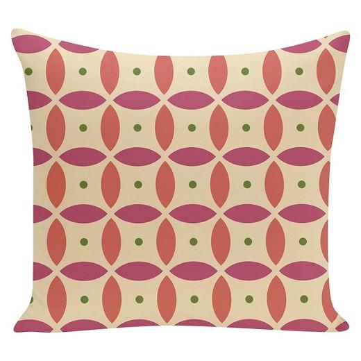 Target Beach Throw Pillows : Yellow Beach Ball Geometric Print Throw Pillow (16