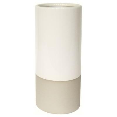 Cream Tall Round Vase with Crackle Glaze - Smith & Hawken™