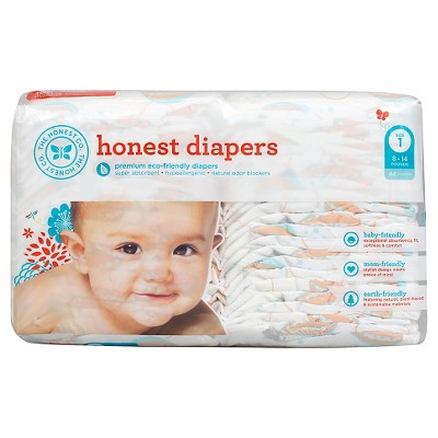 Honest Company Diapers Balloons Jumbo Pack - Size 1 (44 ct)