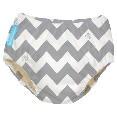 Charlie Banana Reusable Swim Diaper, Gray Chevron, M