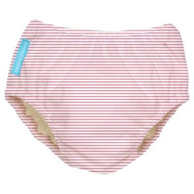 Charlie Banana Reusable Swim Diaper, Pink Stripe - M