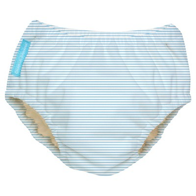 Charlie Banana Reusable Swim Diaper, Blue Stripe - M
