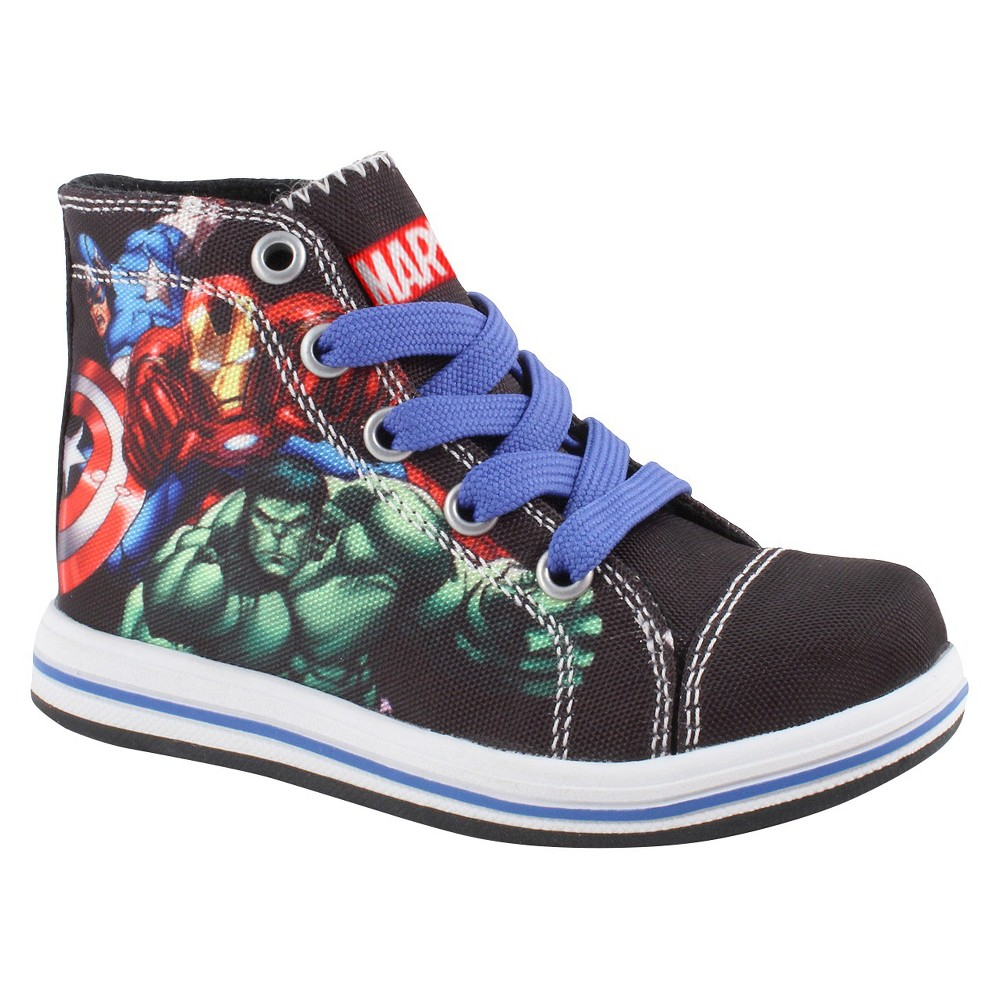 Marvel Toddler Boys Avengers Hi top Sneakers - Black 8