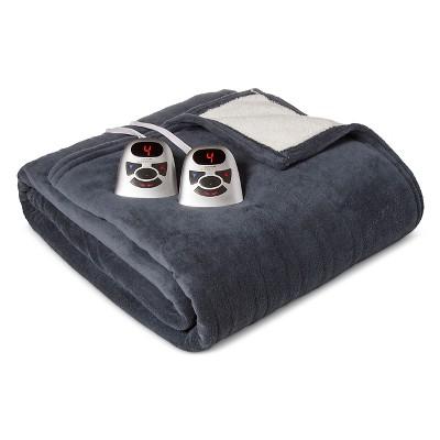 Electric Microplush with Sherpa Blanket King Indigo Blue - Biddeford