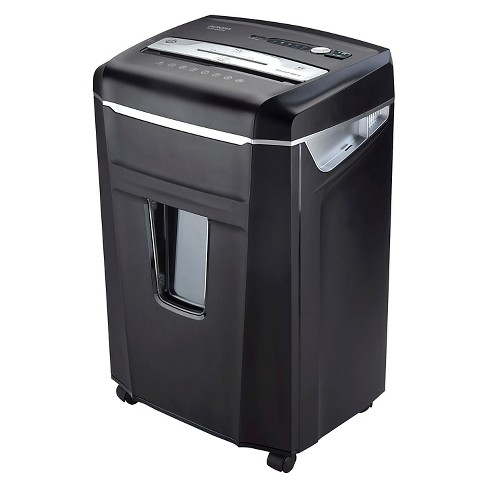 Aurora 14 Sheet Paper/CD Shredder with Pull-Out Basket Black - AU1400XA - image 1 of 7