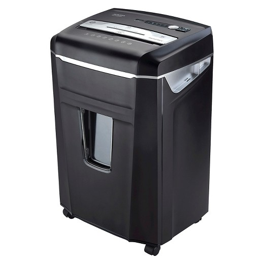 Paper shredder with pull out basket