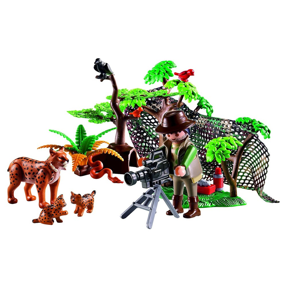 Playmobil Lynx Family with Cameraman, Multi-Colored