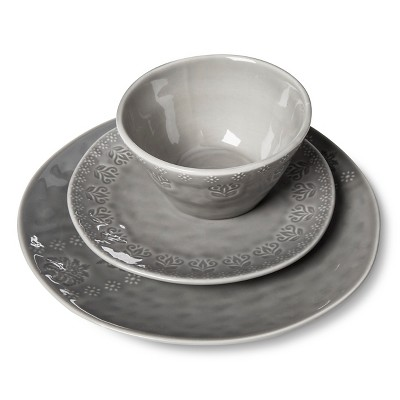 Darby Way 12pc Dinnerware Set Light Gray - Beekman 1802 FarmHouse™