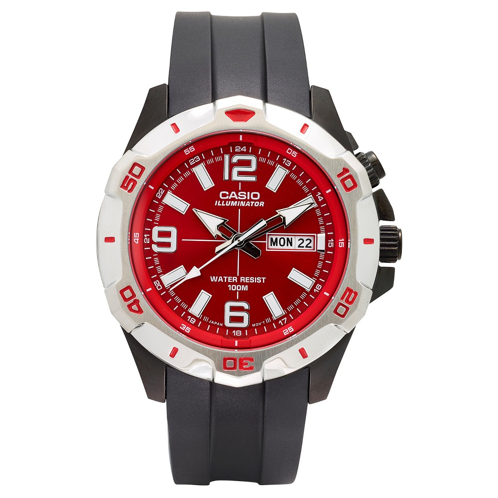 Casio Mens Dive Style Analog Watch - Red Dial (MTD1082-4AVCF)
