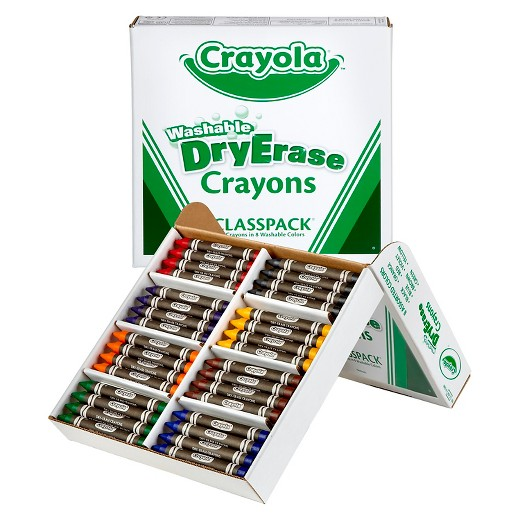 crayola classpack dry erase crayons washable 96ct 8 colors