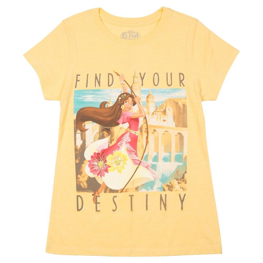 Plus Size Girls Elena of Avalor Short Sleeve T-Shirt - Yellow M Plus