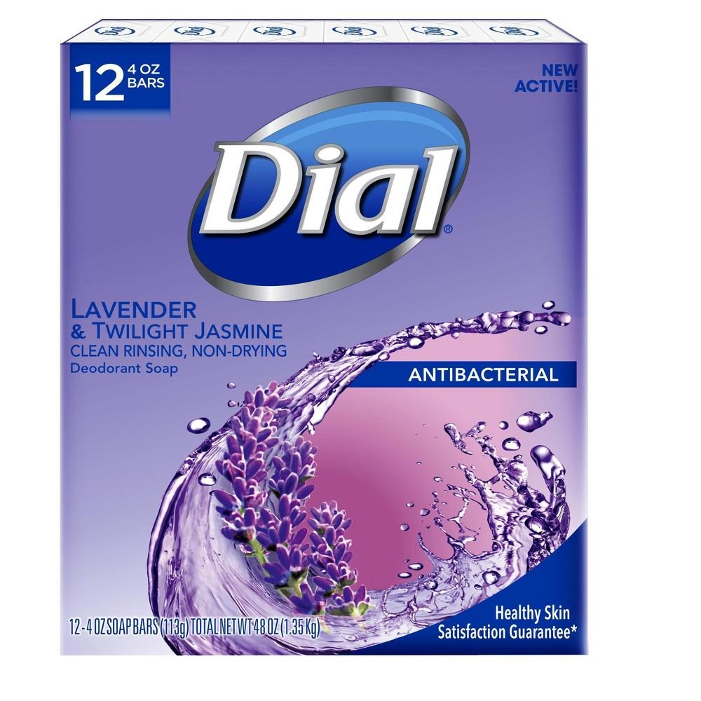 DIAL Lavender Antibacterial Deodorant Bar Soap - 12ct - 4oz