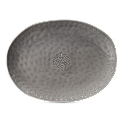 Darby Way Oval Serving Platter Light Gray - Beekman 1802 FarmHouse™