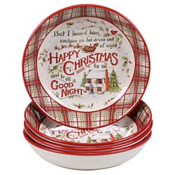 Certified International® The Night Before Christmas Pasta Bowl - Set of 4