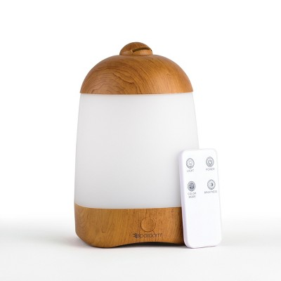 SpaMist Ultrasonic Misting Humidifier and Oil Diffuser Wood Grain Finish - SpaRoom®