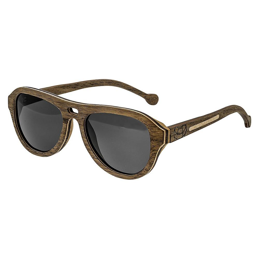 Earth Wood Clearwater Unisex Sunglasses - Khaki/Brown