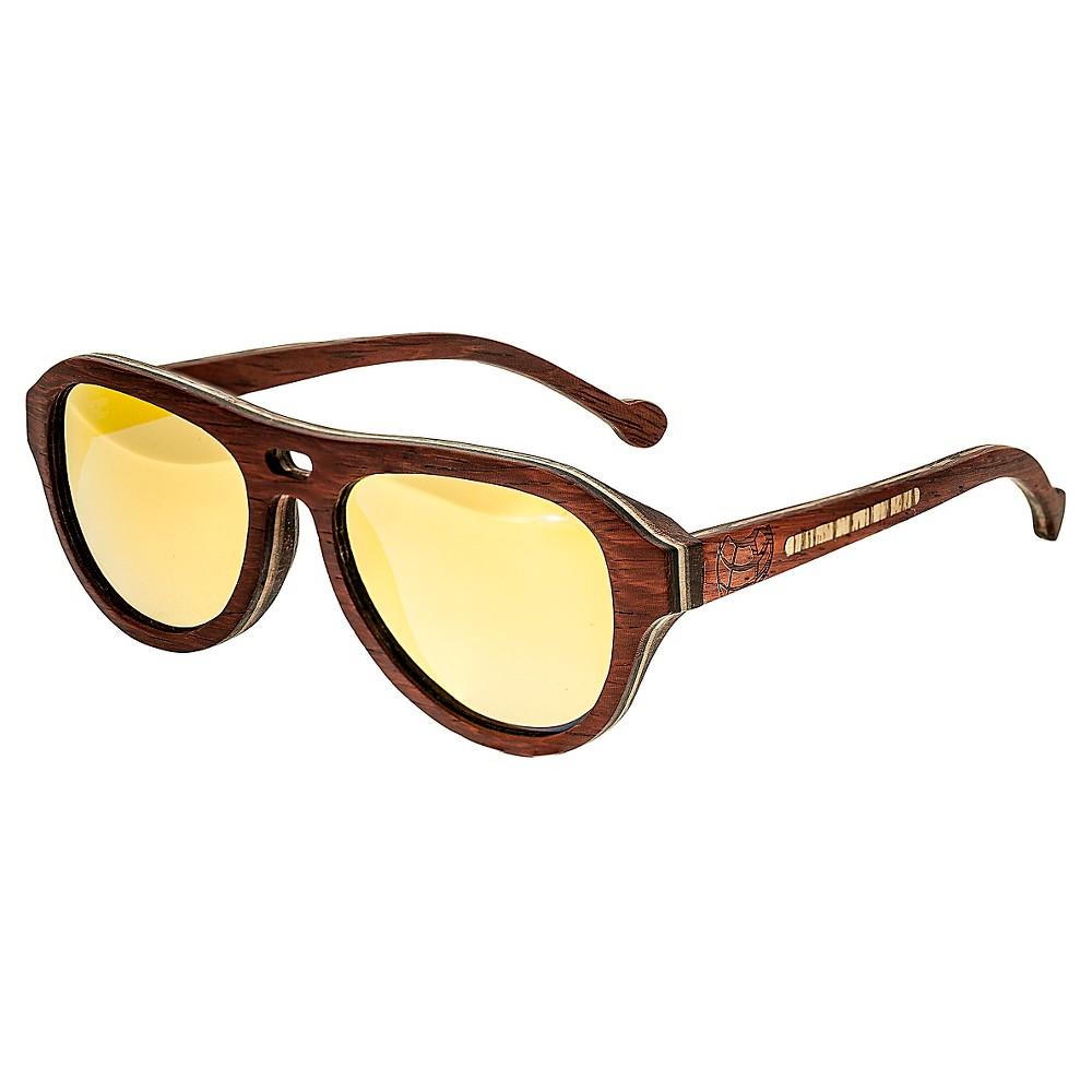 Earth Wood Clearwater Unisex Sunglasses - Beige, Red Oak