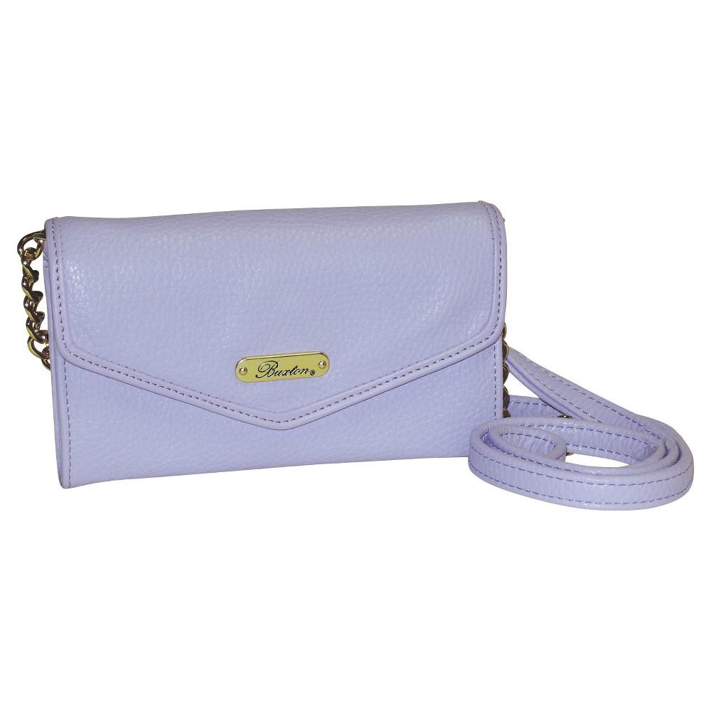 Buxton Womens Chained Crossbody Handbag - Lavender (Purple)