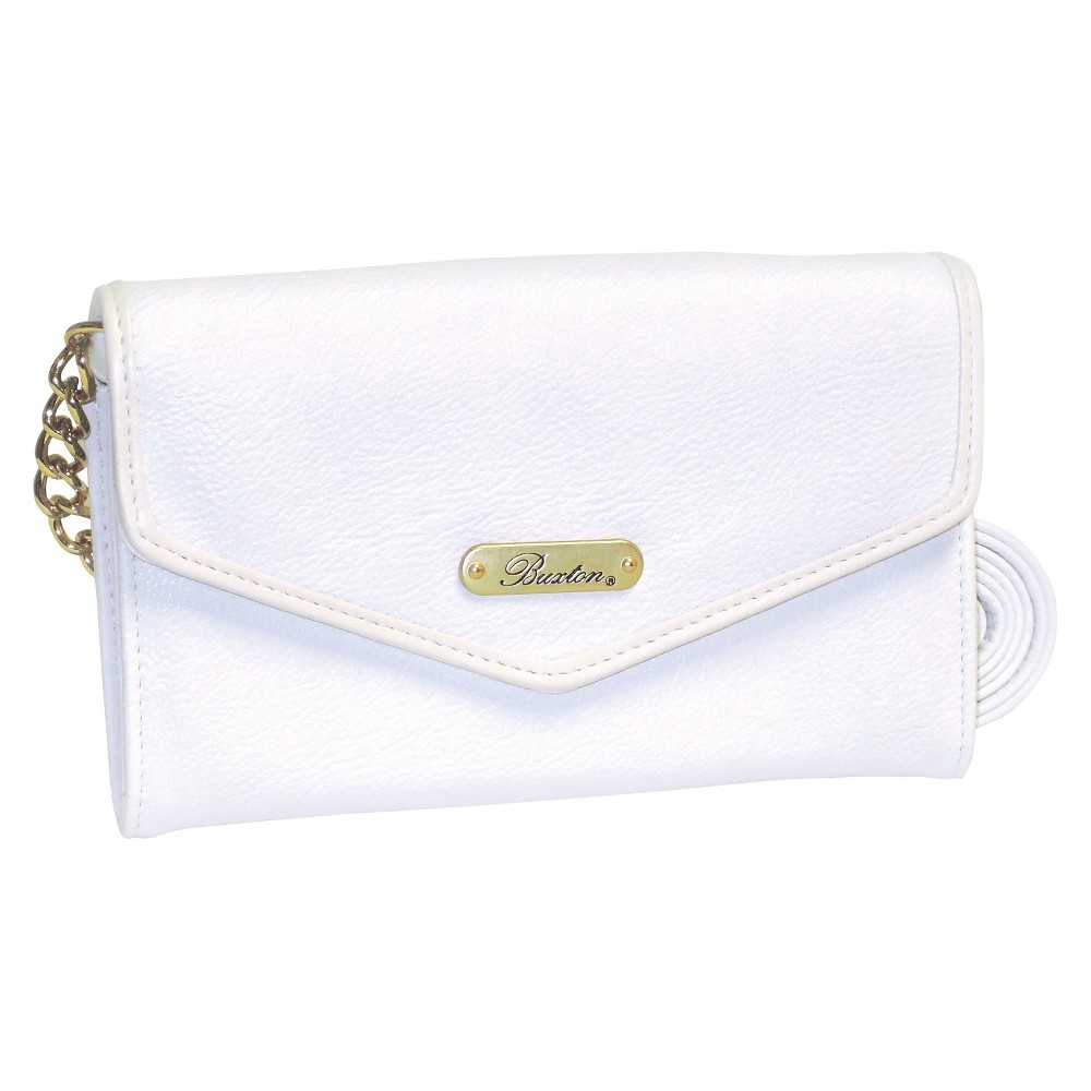 Buxton Womens Chained Crossbody Handbag - White