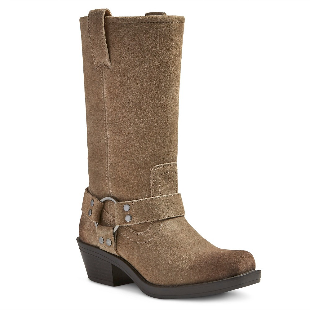 Womens Genuine 1976 Katherine Suede Harness Boots - Taupe 9, Brown