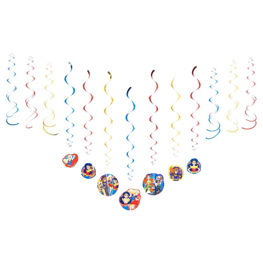 12 ct DC Comics Super Hero Girls' Swirl Decoration