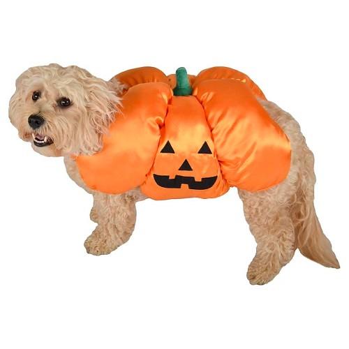 La Ti Paw Pum-Packin Dog Costume - XS, Orange