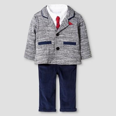 Baby Boyz™ Top & Bottom Suit Set - Heather Grey 3-6M