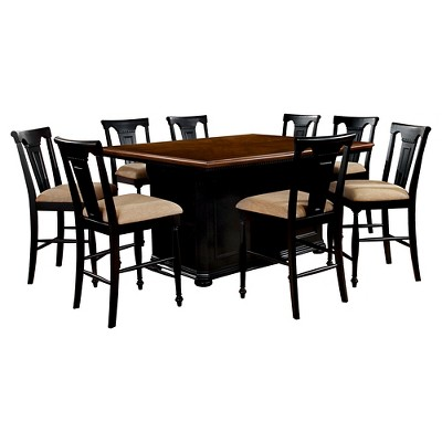 Sun u0026 Pine 9pc Country Storage Counter Height Table Set - Cherry and Black  sc 1 st  Target & Sun u0026 Pine 9pc Country Storage Counter Height Table Set - Cherry and ...