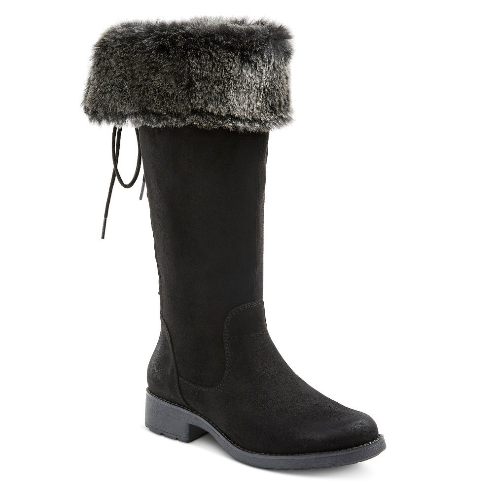 Womens Maureen Shearling Style Boots - Mossimo Supply Co. Black 5.5