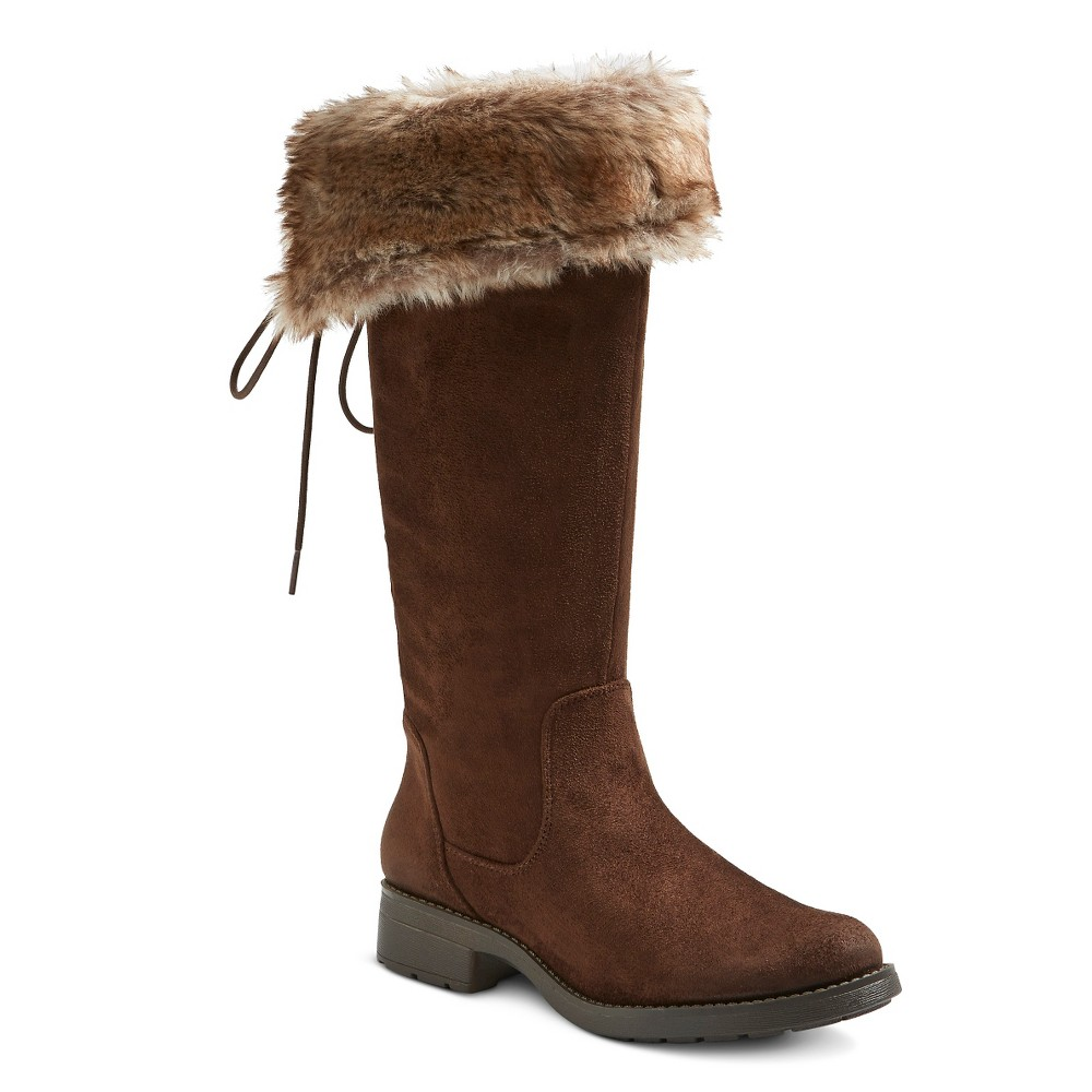 Womens Maureen Shearling Style Boots - Mossimo Supply Co. Brown 7.5