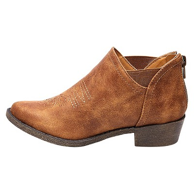 Girls' Nicolette Western Ankle Boots - Cat & Jack - Cognac 2, Girl's, Brown