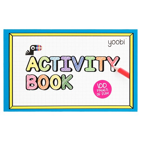 "Yoobi™ Activity Book-V1-6.5"" x 4""-100pgs - Multicolor - image 1 of 2"