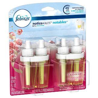 Febreze Fresh-Twist Cranberry Scented Plug Air Freshener Scented Oil Refill - 2ct/1.75 fl oz