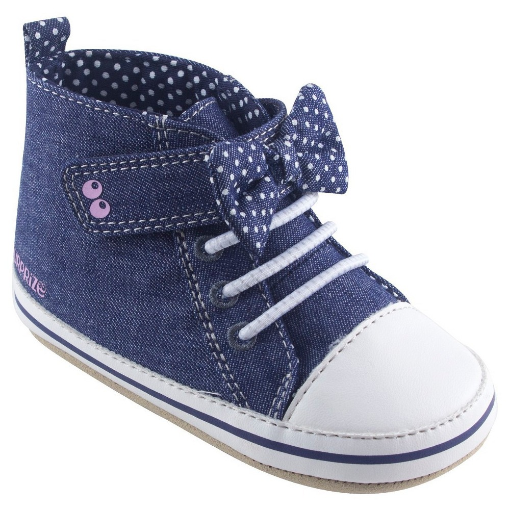 Baby Girls Surprize by Stride Rite Maddie High Top Sneaker Soft Sole Shoes - Blue 12-18M