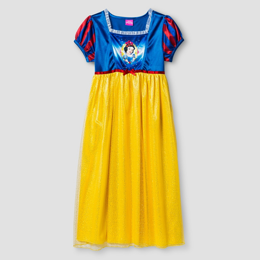 Girls Disney Princess Snow White Nightgown 8, Multicolored