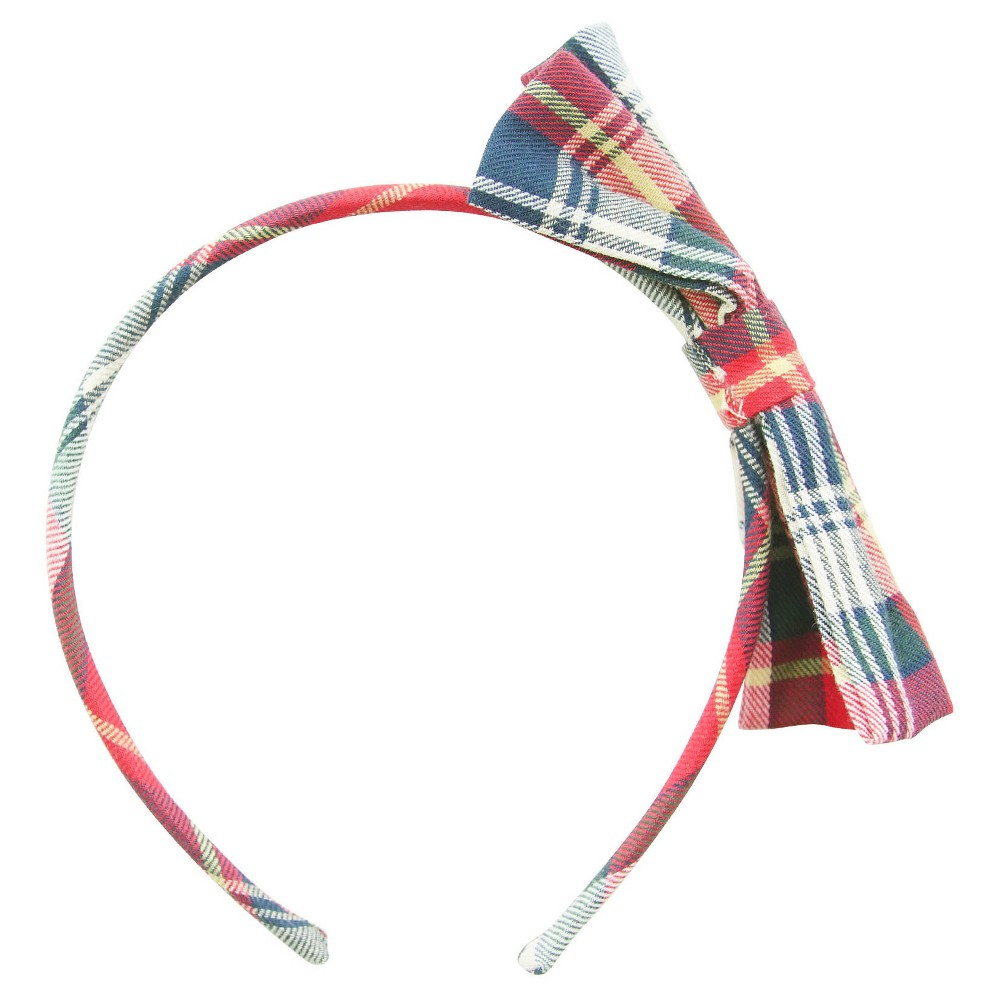 Remington Girls Plaid Headband with Bow 1 ct, Red