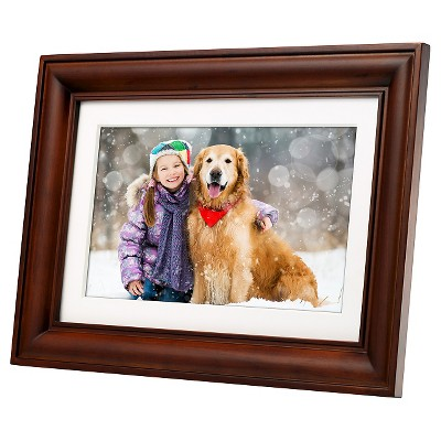 Polaroid™ Digital Photo Frame 10  Premium Wood Frame with Mat