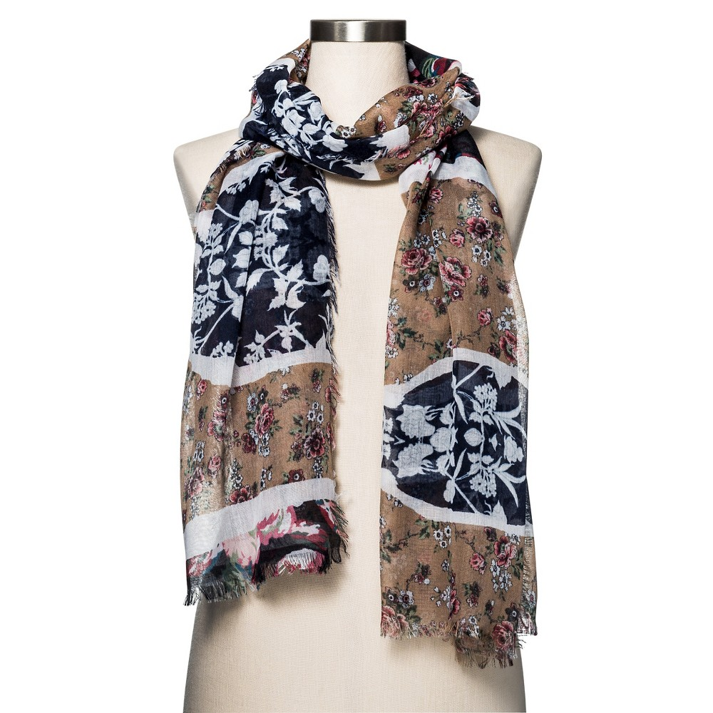 Womens Fashion Scarf Floral Navy/Tan - Merona, Multi-Colored