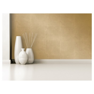 Devine Color Metallic Leaf Peel And Stick Wallpaper   Karat by Devine Color